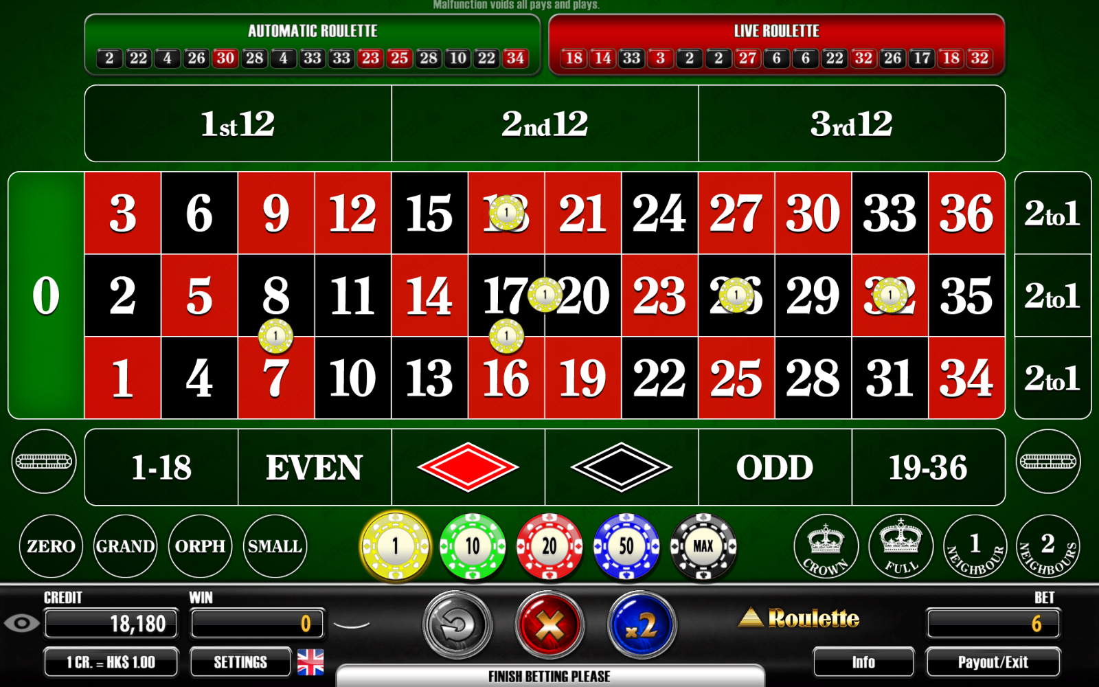 online live casino betting
