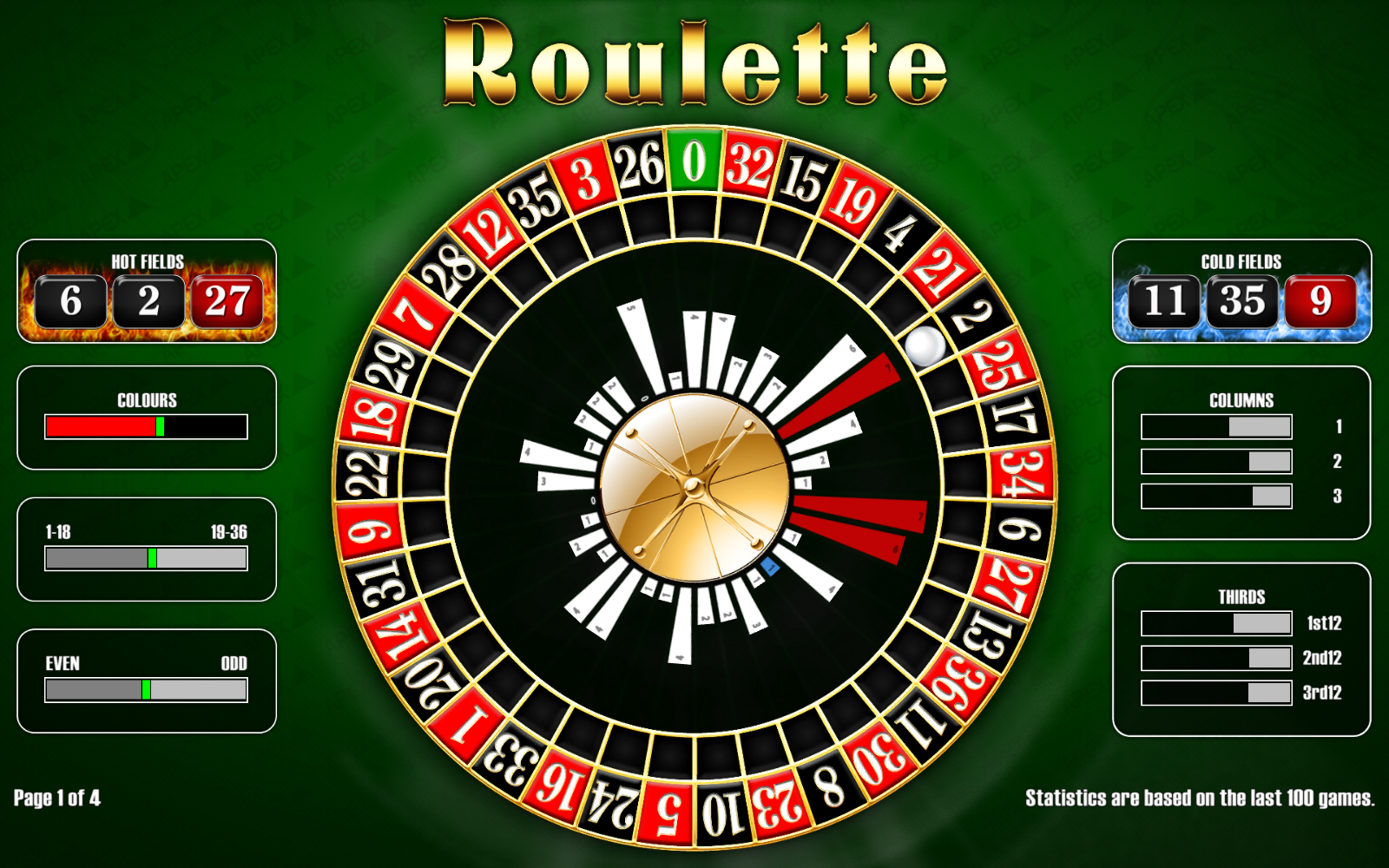 Roulette numbers and colors big rock casino jobs